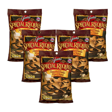(5 Pack) Gardetto's Snack Mix Special Request Roasted Garlic Rye Chips, 8 oz (Homemade Halloween Snack Mix)