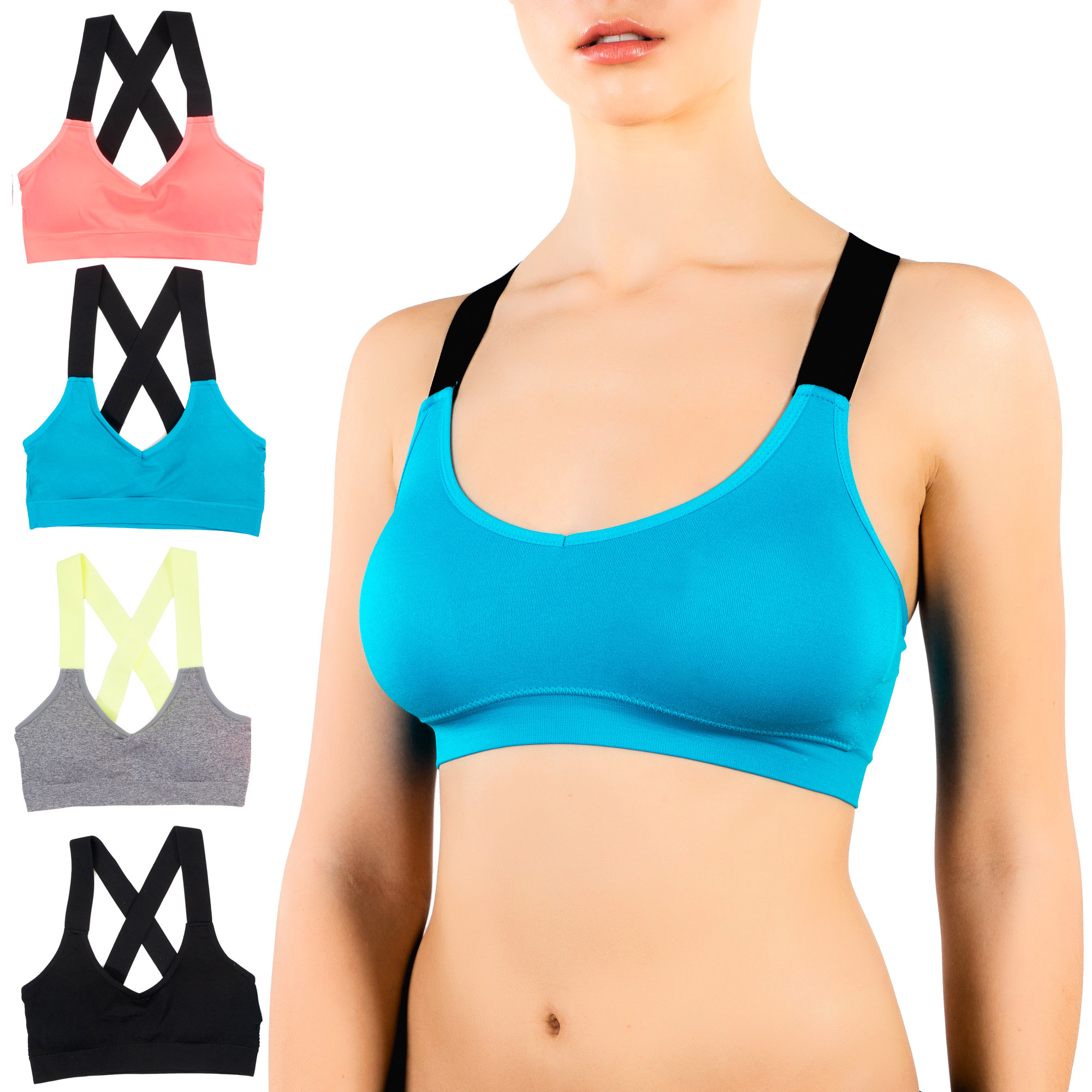 Pack of 4 Alyce Athletics Womens Sports Bra