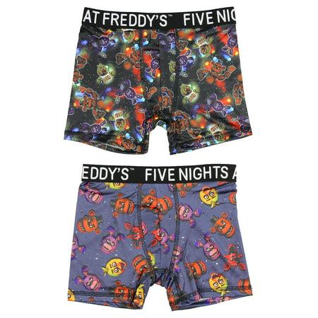 Bioworld Five Nights at Freddy's Action Underwear 2 Pack Boys Boxer (Action Underwear)