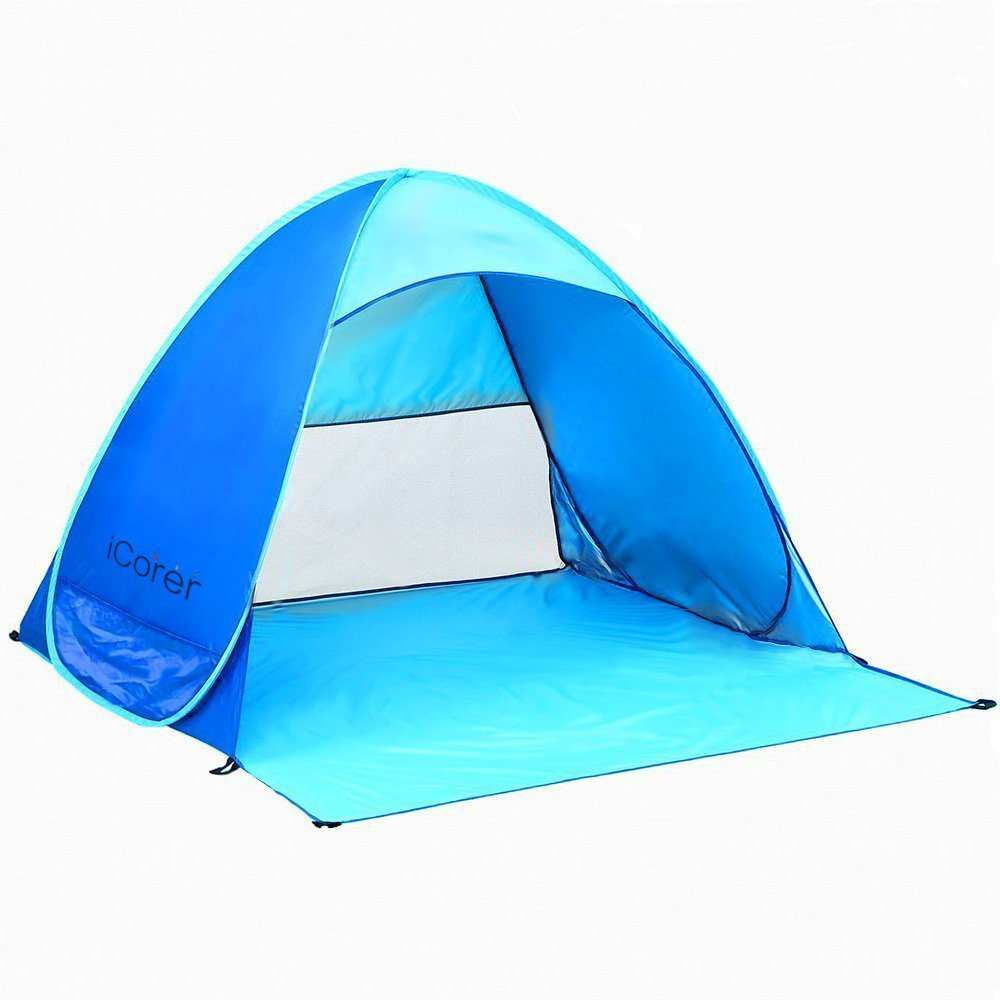 Beach Tent iCorer Automatic Pop Up Instant Portable Outdoors Quick Cabana Sun Shelter - Walmart.com  sc 1 st  Walmart & Beach Tent iCorer Automatic Pop Up Instant Portable Outdoors Quick ...