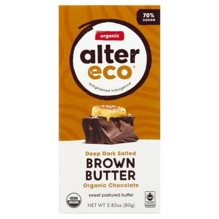 Alter Eco - Dark Salted Brown ButterOrganic Chocolate Bar, 2.82 (Best Organic Dark Chocolate Bars)