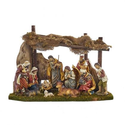 Kurt Adler Nativity Set with 11 Figures and Stable](Nativity Yard Sets)