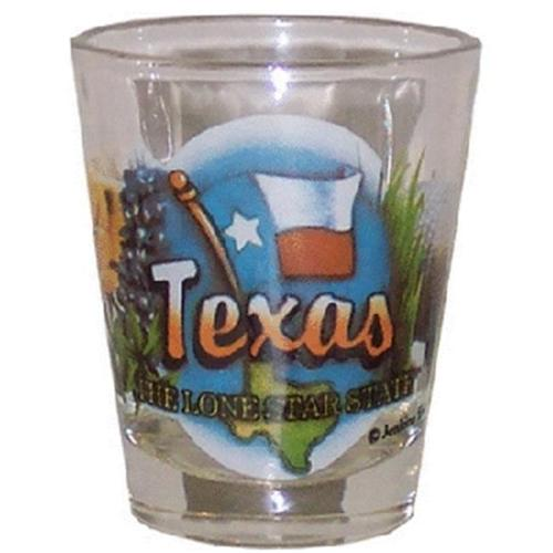 Bulk Buys Texas Shotglass Elements - Case of 96