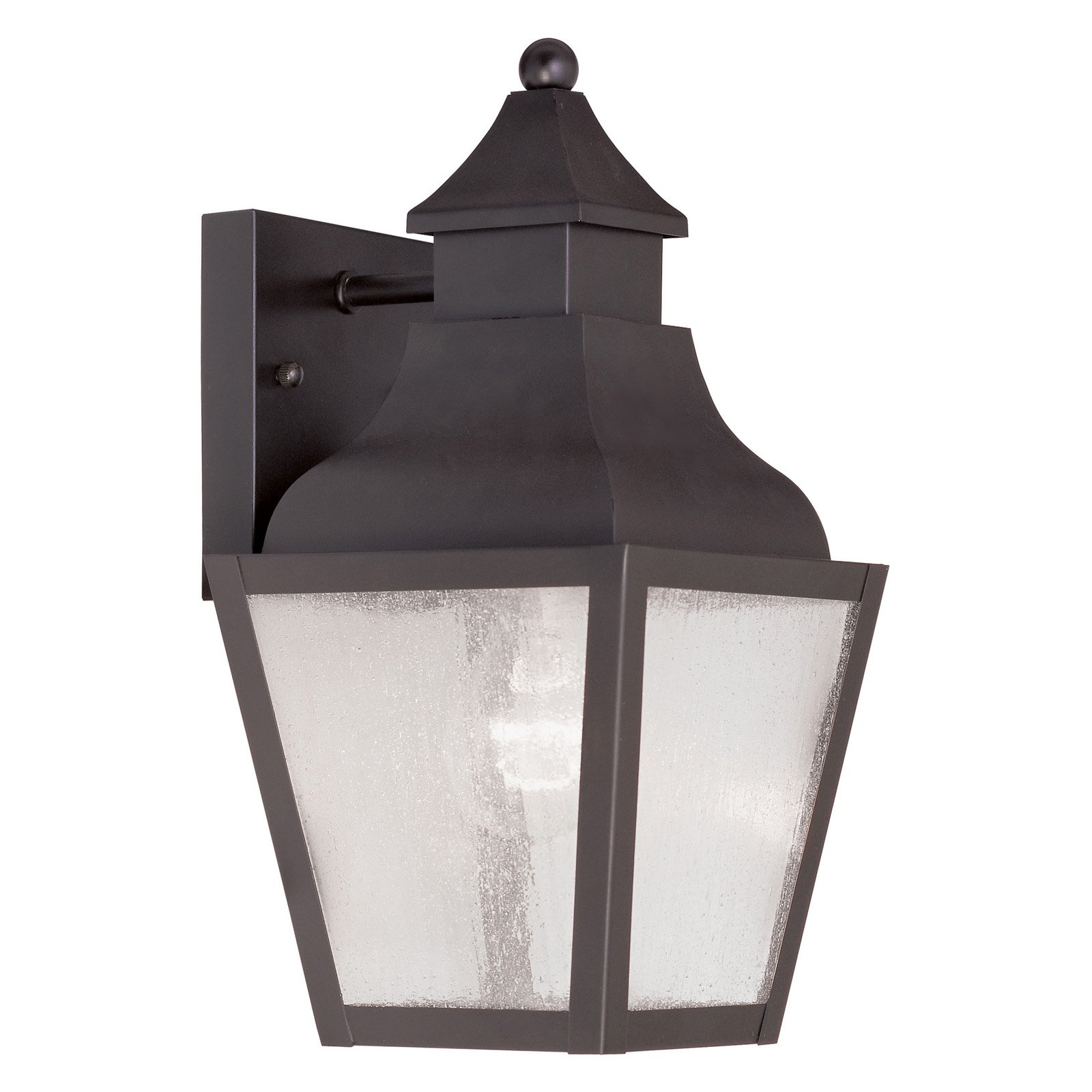 Livex Vernon 2450-07 1-Light Outdoor Wall Lantern in Bronze
