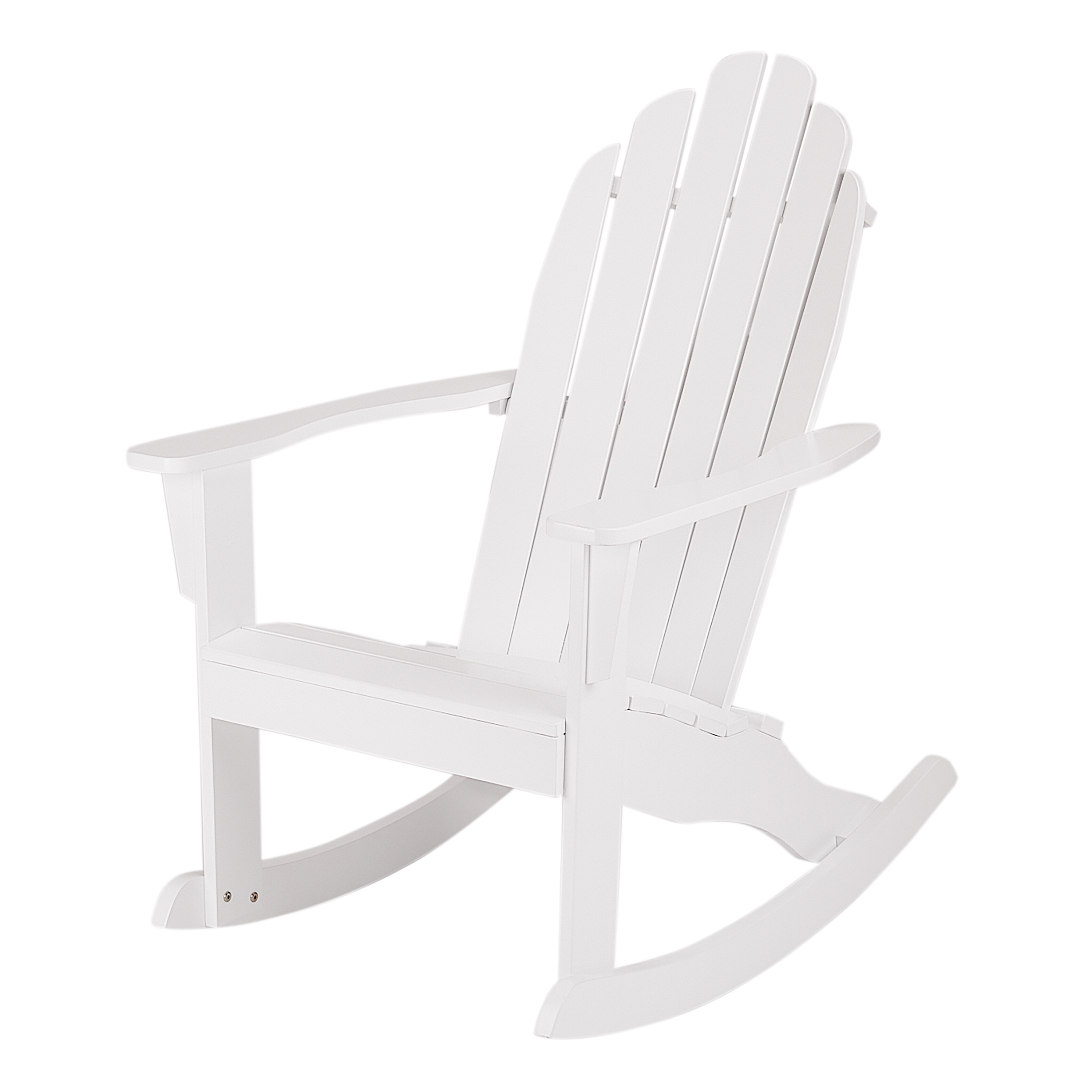 Mainstays White Wood Outdoor Adirondack Rocking Chair