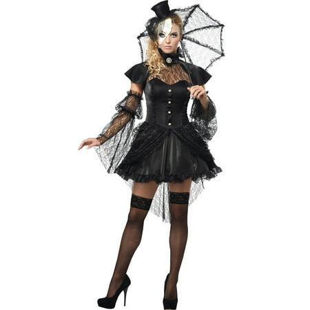 Black Victorian Doll Women Adult Halloween Costume - Large