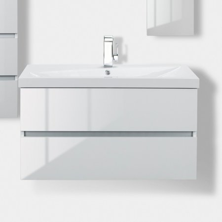 Cutler Kitchen & Bath Sangallo 36 in. Wall Hung Gloss Bathroom Vanity