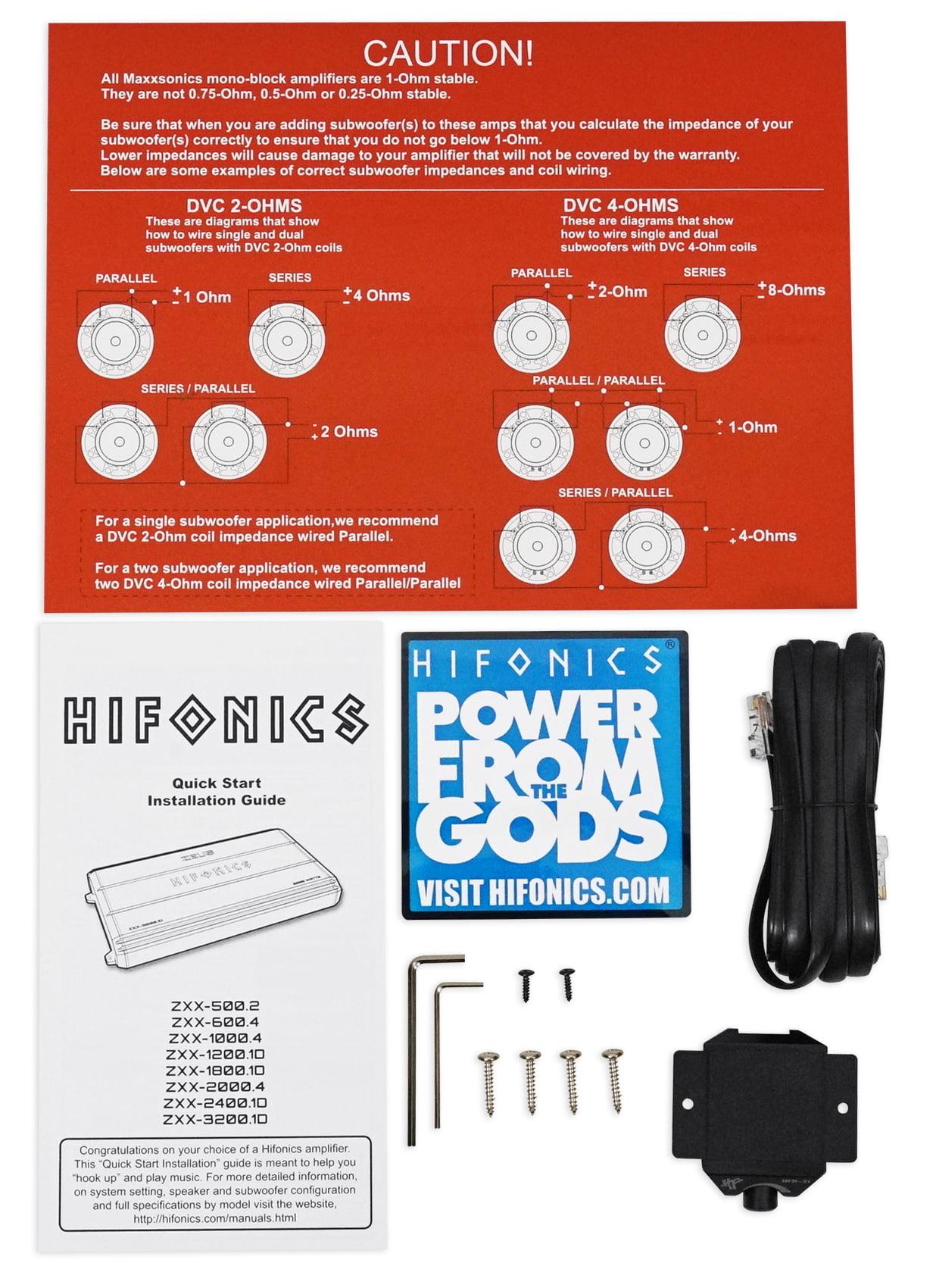 Hifonics Zeus Zxx 12001d 1200w Mono Block Class D Car Audio Wiring A Stable Amplifier Amp Kit