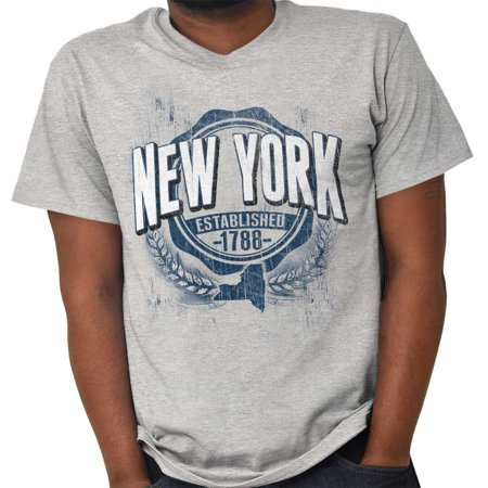Brisco Brands State of New York Game Day NY Short Sleeve Adult (Best Campgrounds In New York State)