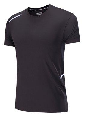 7b56ae3c Product Image LELINTA Men's Lightweight Workout Training Pullover  Sweatshirt Core Tops Shortsleeve Sport Cloth Black