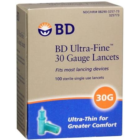 BD Ultra-Fine 30 Gauge Lancets, 100 ct