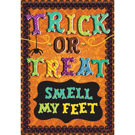 Smell My Feet Halloween House Flag Trick or Treat Double Sided 28