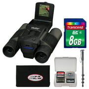 Vivitar 12x25 Binoculars with Built-in Digital Camera with 8GB Card + Monopod + Accessory Kit