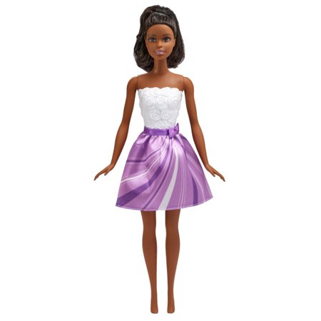 Barbie Cake Topper (Signature Barbie Lets Party Cake Topper - African)