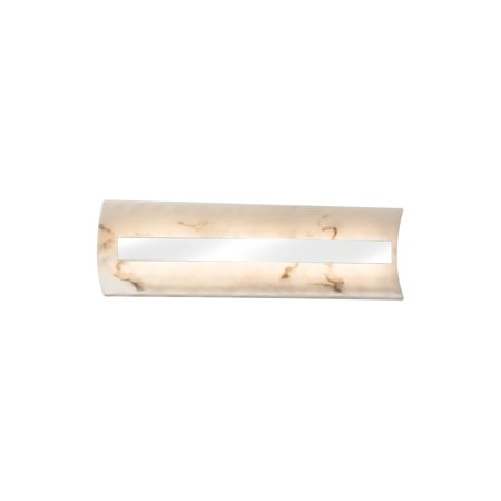 - Justice Design  Group LumenAria Contour 21-inch Polished Chrome ADA LED Wall/ Bath Bar, Faux Alabaster Shade