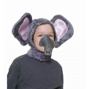 CHILD ANIMAL HOOD&NOSE-ELEPHAN - Costume Animal Noses