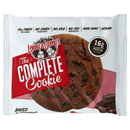 Lenny & Larry's The Vegan Complete Cookie Double Chocolate -- 12 Cookies (Vegan Halloween Cookies)