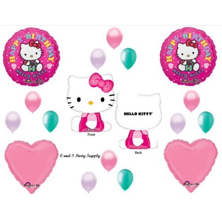HELLO KITTY XL BIRTHDAY PARTY Balloons Decorations Supplies Hearts - Party City Hello Kitty Decorations