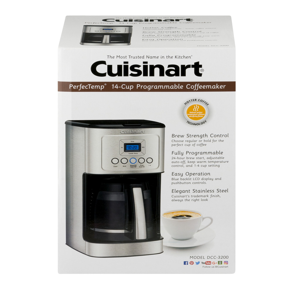 Cuisinart PerfecTemp 14-Cup Programmable Coffeemaker, 1.0 CT