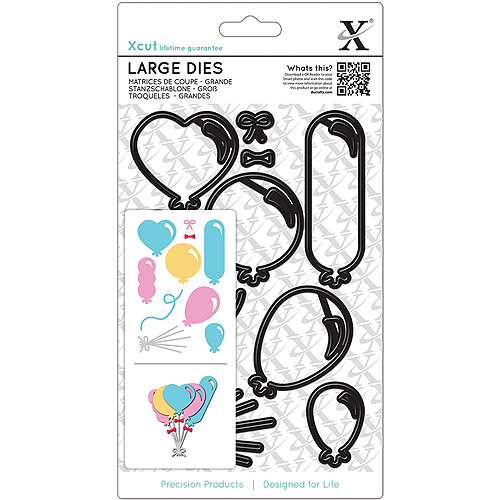 Xcut Decorative Dies, Large, Balloons