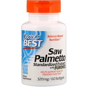 Doctor's Best, Saw Palmetto, Standardized Extract with Euromed, 320 mg, 60 Softgels (Pack of
