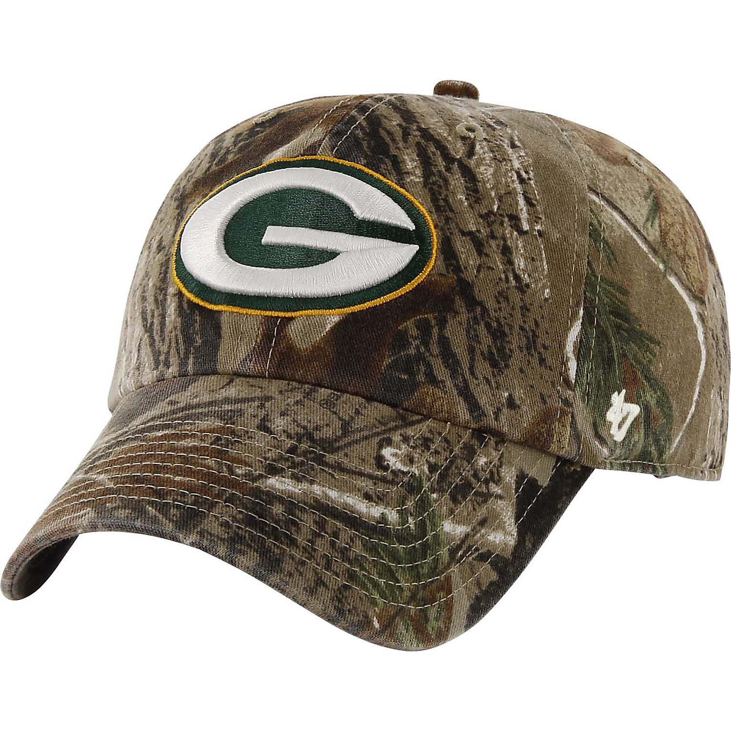 '47 Brand Green Bay Packers NFL Realtree Camo Clean Up Cap