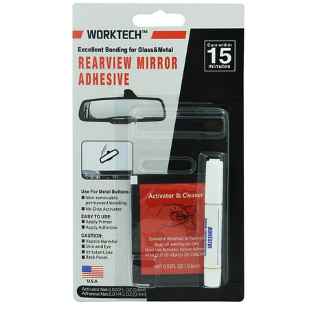 WORKTECH Professional Strength Rearview Mirror Adhesive Repair