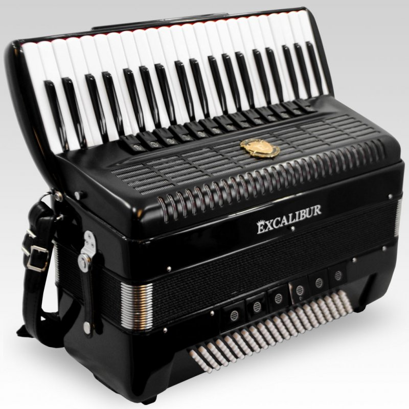 Excalibur German Weltbesten Ultralite 120 Bass Piano Accordion Satin Polish Ebony by