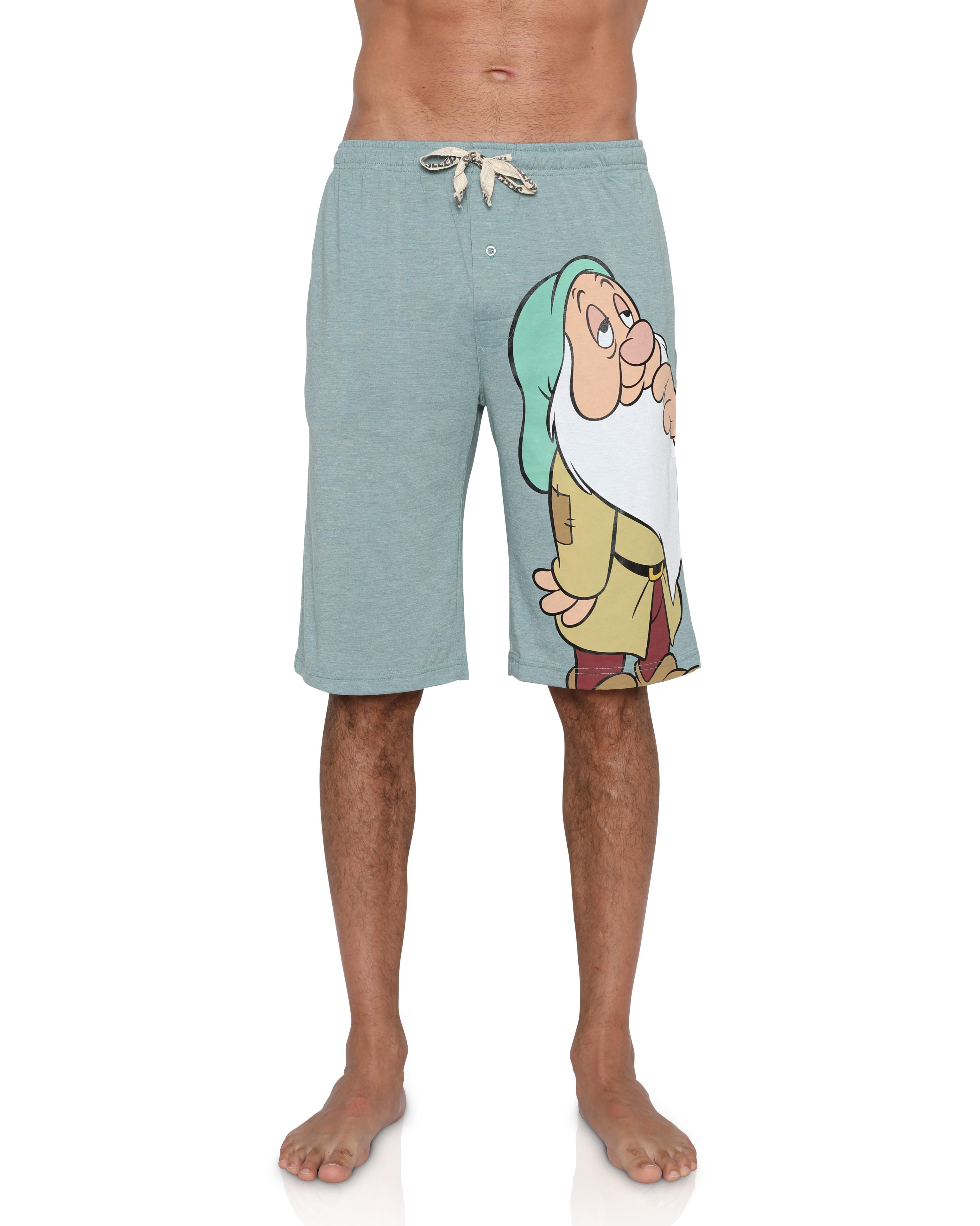 "Disney Men/'s Aladdin Genie /""You Wish/"" Lounge Shorts"