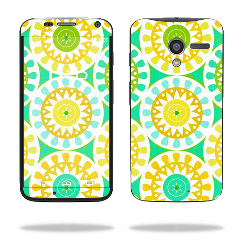 Mightyskins Protective Skin Decal Cover for Motorola Moto X (1st Gen 2013) wrap sticker skins Slices