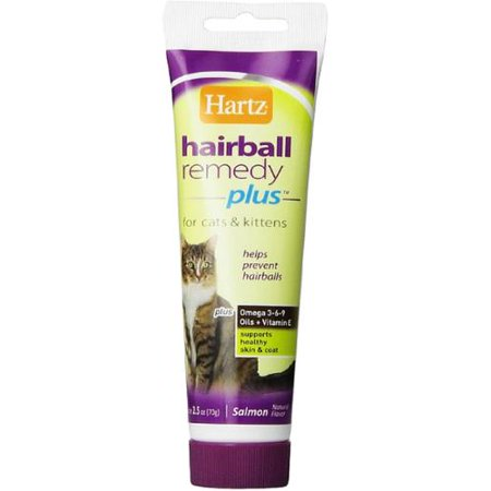 Hartz Hairball Remedy Plus Paste for Cats 2.50 oz (Pack of 3)