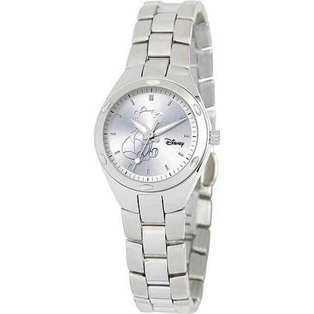 Disney Winnie The Pooh Women's Stainless Steel Watch, Silver Bracelet