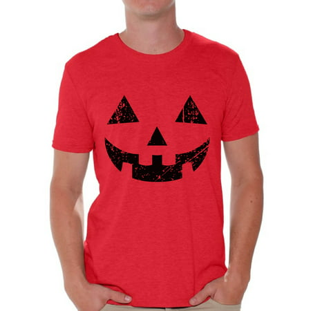 Awkward Styles Halloween Pumpkin Tshirt Jack-O'-Lantern Shirt Halloween Shirt for Men Dia de los Muertos T Shirt Funny Pumpkin Face T-Shirt Men's Halloween Party Shirt Day of the Dead Gifts - Halloween T Shirts For Teachers