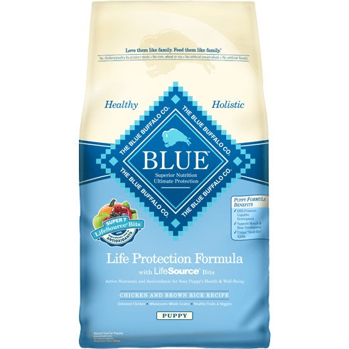 Blue Buffalo Life Protection Formula Chicken and Brown Rice Recipe Natural Puppy Food, 30 lb, Bag by Blue Buffalo Co., Ltd.
