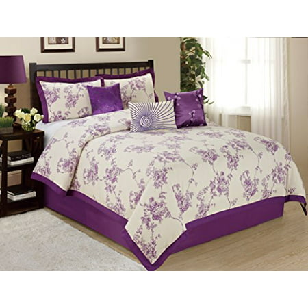 7 Piece Sunrise Floral Printed Clearance Bedding Comforter