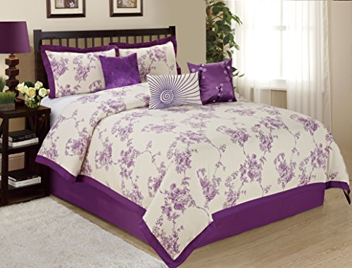 7 piece sunrise floral printed clearance bedding comforter set fade resistant wrinkle free no