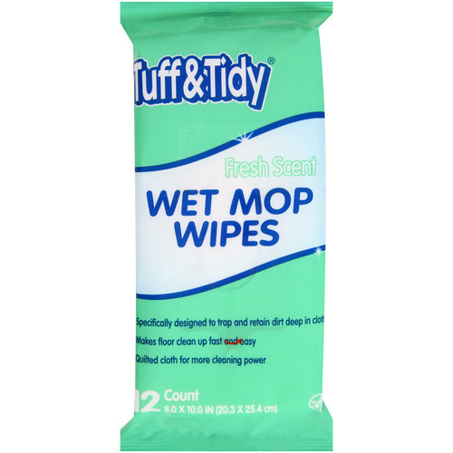 (2 pack) Tuff & Tidy Fresh Scent Wet Mop Wipes, 12 count