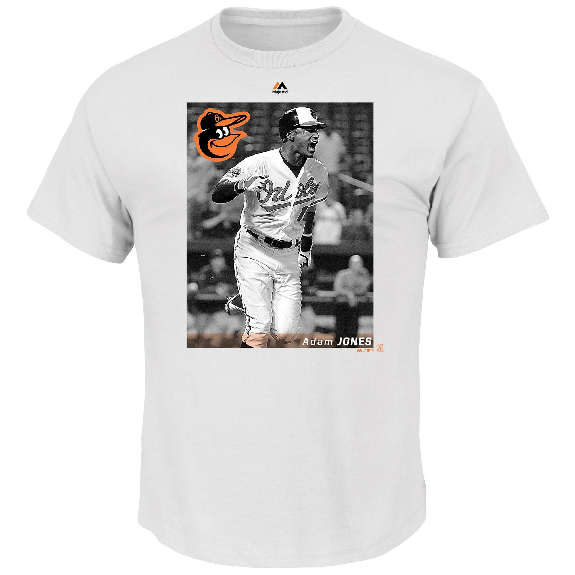 Adam Jones Baltimore Orioles Majestic Believe In The Game T-Shirt - White