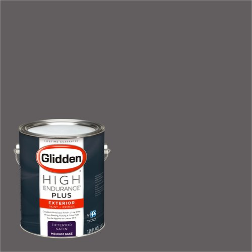 Glidden High Endurance Plus Exterior Paint and Primer, Black Frosted Plum, #50RR 14/045