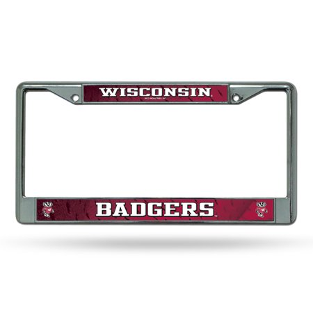 Wisconsin Badgers NCAA Chrome Metal License Plate