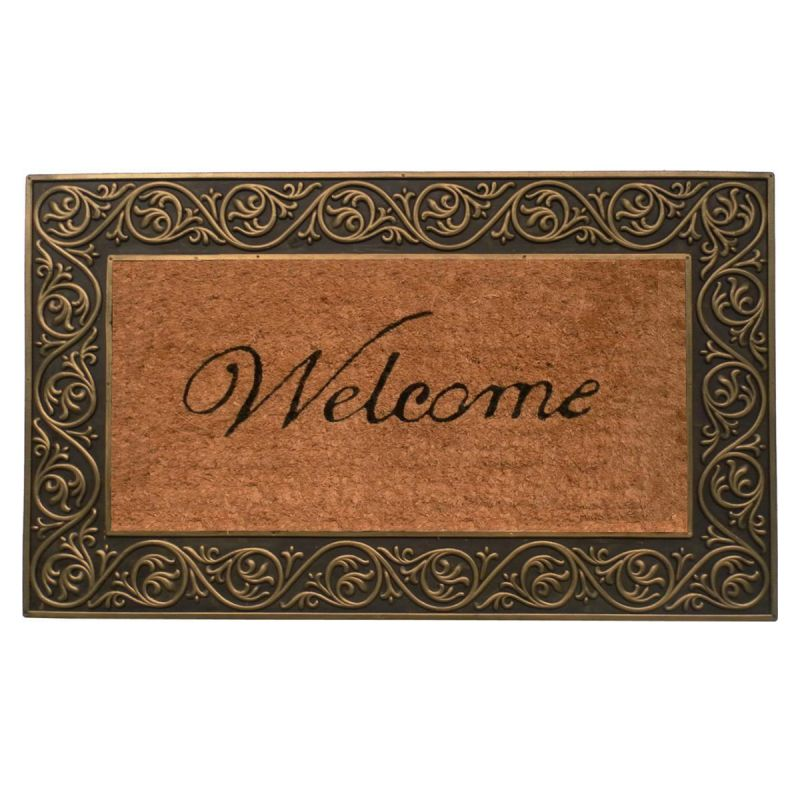 Home & More Coir & Rubber Welcome Mat 30L 18W