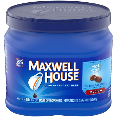 Marwell Halloween (Maxwell House Half Caff Ground Coffee, 25.6 oz Canister (Pack of)