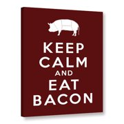 ArtWall Keep Calm And Eat Bacon by Art D Signer Kcco Textual Art on Wrapped Canvas