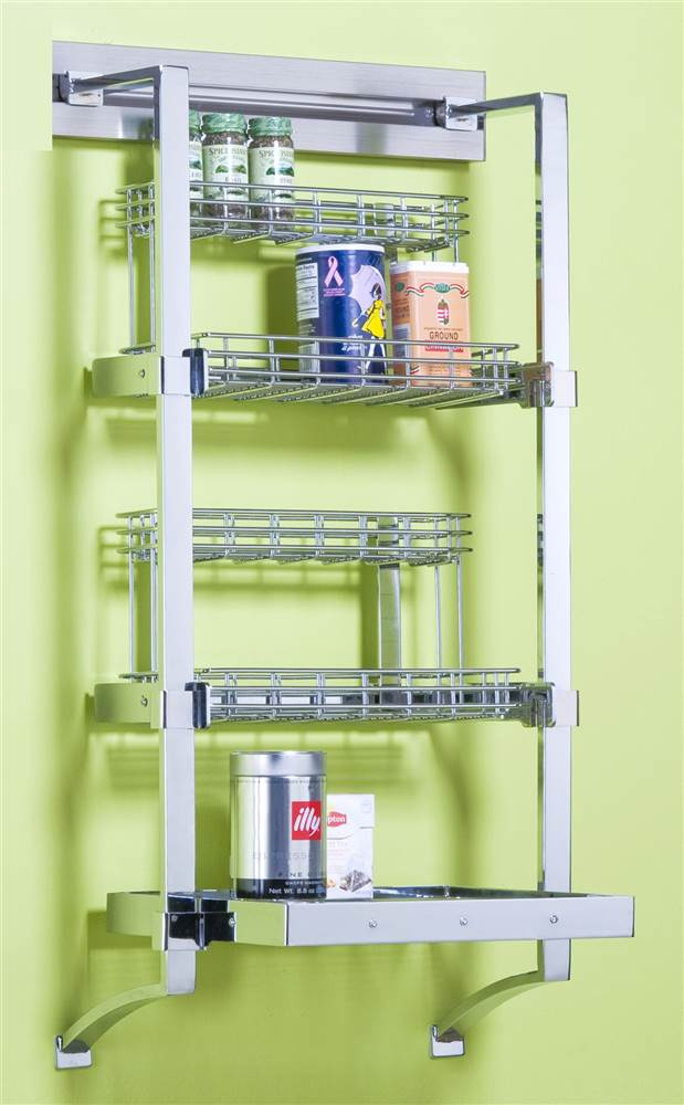 18 in. Spice Rack in Polished Chrome by Orginnovations Inc.