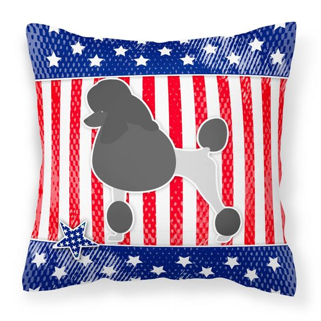 Carolines Treasures BB3339PW1414 USA Patriotic Poodle Fabric Decorative Pillow - image 1 of 1