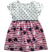 Healthtex Toddler Girl Cap Sleeve Printed Knit Dress