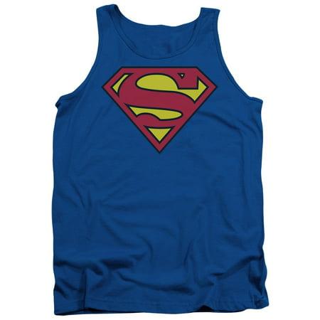 d881f5d1ded998 Superman - Superman Classic Logo Mens Tank Top Shirt - Walmart.com