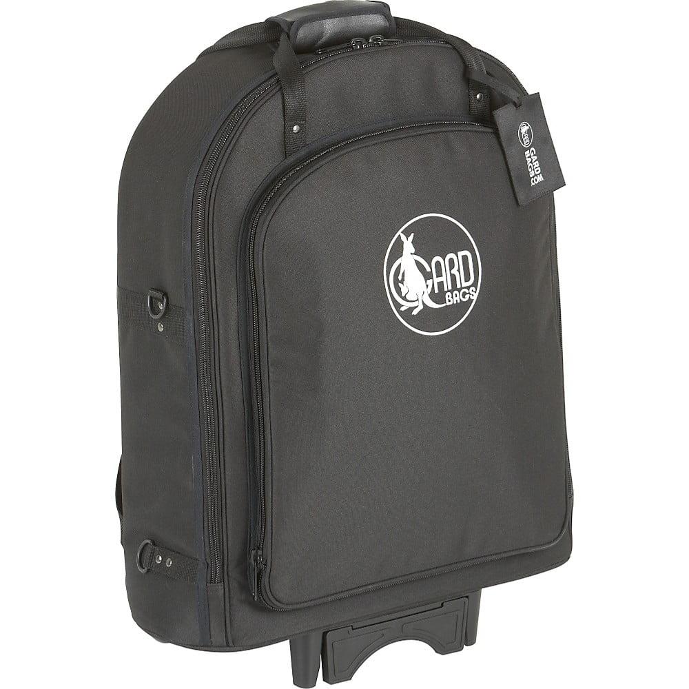 Gard Super Triple Trumpet Wheelie Bag 14-WBFLK Black Ultra Leather