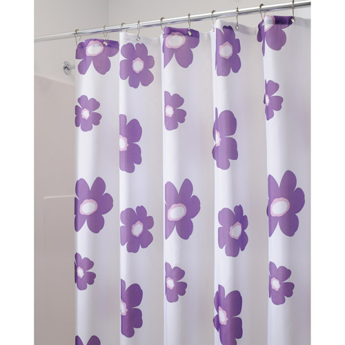 InterDesign Shower Curtain, Poppy