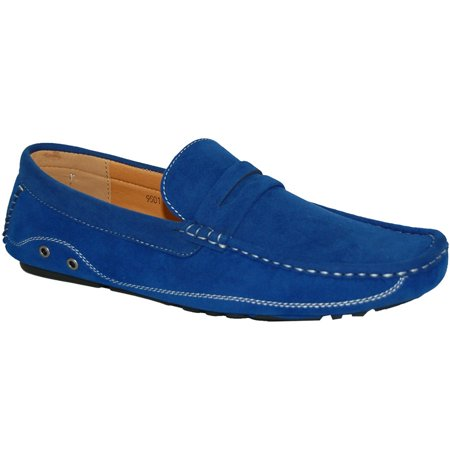 KRAZY SHOE ARTISTS My Blue Suede Look Men Shoes